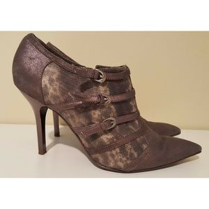 Carlos Santana High Heel Booties Pointed Toe